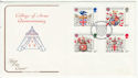 1984-01-17 Heraldry Stamps London EC FDC (64783)