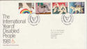 1981-03-25 Disabled Year Stamps Windsor FDC (64827)