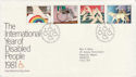1981-03-25 Disabled Year Stamps Bureau FDC (64828)