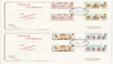 1981-02-06 Folklore Gutter Stamps Lover x2 FDC (64849)