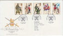 1983-07-06 Army Uniforms Stamps Aldershot FDC (64872)