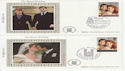 1986-07-22 Royal Wedding Stamps Benham x2 FDC (64902)