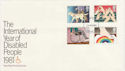1981-03-25 Disabled Year Stamps London FDC (64904)