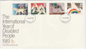 1981-03-25 Disabled Year Stamps London FDC (64905)