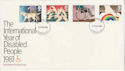1981-03-25 Disabled Year Stamps London FDC (64906)