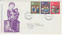 1970-11-25 Christmas Stamps Harrow FDC (64996)