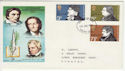 1971-07-28 Literary Anniversaries Stamps Devon FDC (65054)