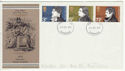 1971-07-28 Literary Anniversaries Stamps Cambridge FDC (65060)