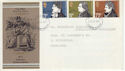 1971-07-28 Literary Anniversaries Stamps Hounslow FDC (65061)