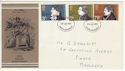 1971-07-28 Literary Anniversaries Stamps Harrow FDC (65062)