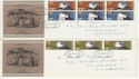 1971-07-28 Literary Anniversaries Stamps Llanelli x2 FDC (65064)
