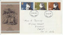 1971-07-28 Literary Anniversaries Stamps Llanelli FDC (65065)