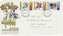 1971-08-25 Anniversaries Stamps Newcastle FDC (65083)