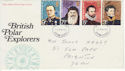 1972-02-16 Polar Explorers Stamps Exeter FDC (65117)