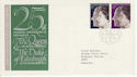 1972-11-20 Silver Wedding Stamps Bureau FDC (65163)
