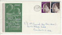 1972-11-20 Silver Wedding Stamps Manchester FDC (65168)