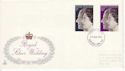 1972-11-20 Silver Wedding Stamps Newcastle FDC (65171)