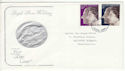 1972-11-20 Silver Wedding Stamps Luton FDC (65172)
