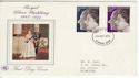 1972-11-20 Silver Wedding Stamps Plymouth FDC (65174)