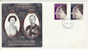 1972-11-20 Silver Wedding Stamps Newcastle FDC (65176)