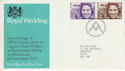 1973-11-14 Royal Wedding Stamps Bureau FDC (65203)