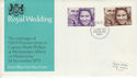 1973-11-14 Royal Wedding Stamps Stoke FDC (65207)