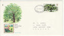 1973-02-28 British Trees Stamp Devon FDC (65262)
