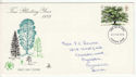 1973-02-28 British Trees Stamp Plymouth FDC (65264)