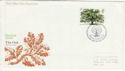 1973-02-28 British Trees Stamp Bureau FDC (65266)
