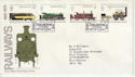 1975-08-13 Railways Stamps Darlington FDC (65407)