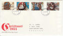 1974-11-27 Christmas Stamps Devon FDC (65413)