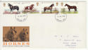 1978-07-05 Horses Stamps Grantham FDC (65657)