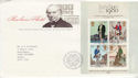 1979-10-24 Rowland Hill Stamps M/S London FDC (65694)