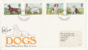 1979-02-07 Dog Stamps Signed Peter Barrett FDC (65698)