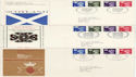 1974-01-23 Regional Definitive x3 SHS FDC (65724)