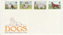 1979-02-07 Dogs Stamps No Postmark on FDC (65785)