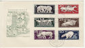1956-12-14 Germany Animal Stamps FDC (65879)