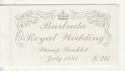 1981 Barbuda Royal Wedding Stamp booklet (65932)