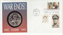 1995-09-02 USA War Ends $5 Coin FDC (65983)
