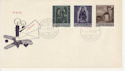 1958-12-04 Liechtenstein Christmas Stamps FDC (66000)