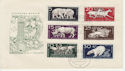 1956-12-14 Germany Animal Stamps FDC (66002)