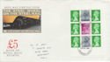 1986-03-18 Definitive Bklt Stamps Grantham FDC (66099)