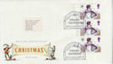 1985-11-19 Christmas Stamps Cylinder Margin FDC (66141)