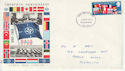 1969-04-02 NATO Anniversary Stamp Plymouth FDC (66161)