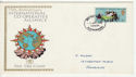 1970-04-01 ICA Stamp Paisley FDC (66176)
