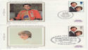 1981-07-22 Charles and Diana x4 Silk FDC (66204)