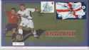 2002-05-31 England Football Stamps Wembley + Coin (66262)