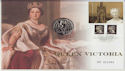 2001-06-20 Queen Victoria Five Pound Coin Cover (66267)