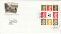 1995-04-25 National Trust Bkt Pane Stamps Bureau FDC (66349)