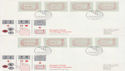1984-05-01 Postage Labels Stamps Southampton 32v x8 FDC (66378)